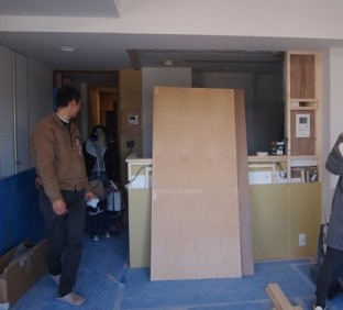 キッチンリノベーション工事中